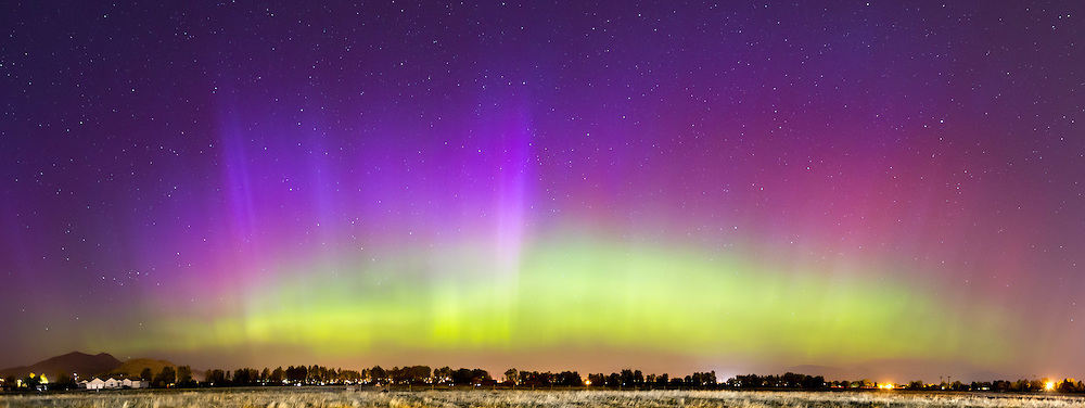 The Northern Lights arc over the Helena Valley.