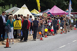 © licensed to London News Pictures. London, UK 03/08/2013. A protest against oil exploration in Balcombe, West Sussex enters its 10th day on Saturday, August 03, 2013, a day after energy company Cuadrilla began drilling at the site. Photo credit: Tolga Akmen/LNP