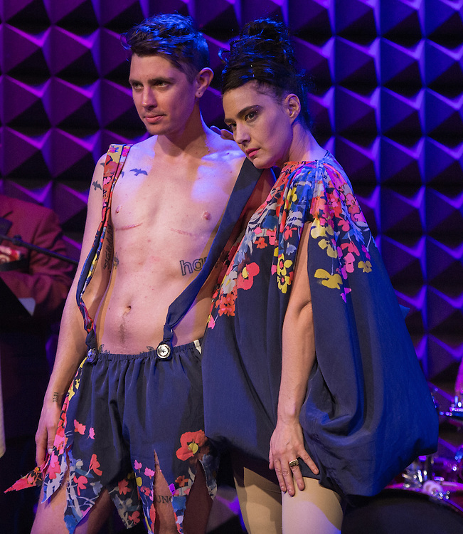 Sawyer DeVust and Kathleen Hanna (House of Larréon Fashion Show)