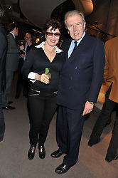 RUBY WAX and SIR DAVID FROST at the launch party for Spectator Life hosted by Andrew Neil at Asprey, 167 New Bond Street, London on 28th March 2012.
