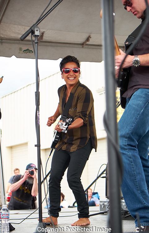 Vicci Martinez performing at Art on the Ave in Tacoma, WA, Sunday, July 10, 2016. (Photo/John Froschauer)