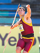 PORT ELIZABETH, SOUTH AFRICA, Friday 13 April 2012, Robert Ooshuizen in the mens javelin during the Yellow Pages South African Senior and Combined Events Championships held at the Xerox Nelson Mandela Metropolitan University, Nelson Mandela Bay..Photo by Roger Sedres/Image SA/ASA