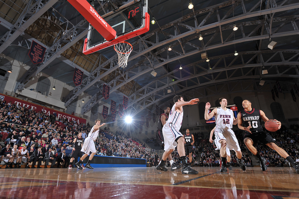Harvard beat Penn 56-50 at the Palestra on February 10, 2012.