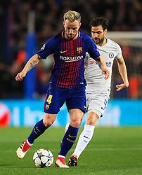 Ivan Rakitic of Barcelona takes on Cesc Fabregas of Chelsea - Mandatory by-line: Matt McNulty/JMP - 14/03/2018 - FOOTBALL - Camp Nou - Barcelona, Catalonia - Barcelona v Chelsea - UEFA Champions League - Round of 16 Second Leg