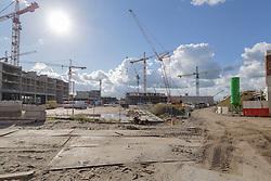 Leidsche Rijn Centrum, Utrecht, Netherlands Bouwplaats, nieuwbouw, building site, construction site
