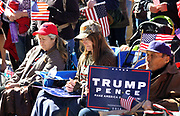 """Supporters of U.S. President Donald Trump pray at a """"Spirit of America"""" rally in Denver February 27, 2017.   REUTERS/Rick Wilking"""