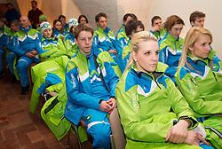 Katarina Burja and Darja Skrlj during presentation of Team Slovenia for European Youth Olympic Festival - EYOF Brasov 2013 on February 13, 2013 in Bled, Slovenia. (Photo By Vid Ponikvar / Sportida)