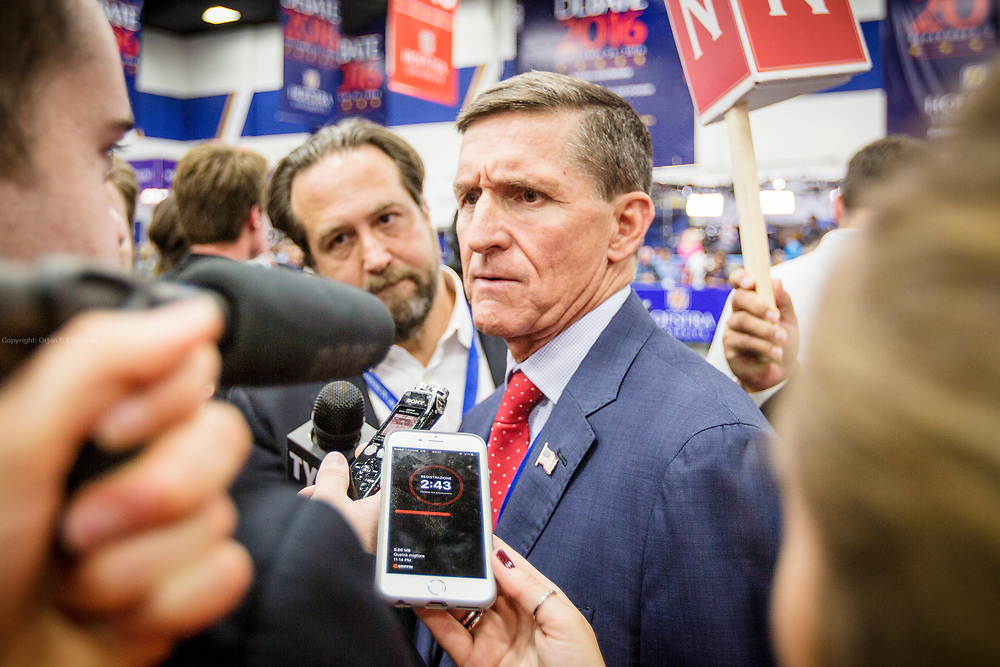 Trump Surrogate and military advisor, Lieutenant General Michael T. Flynn. The Democrate and Republican nominees for US President, Hillary Rodham Clinton and Donald John Trump, met on Sep. 26th for the first head to head Presidential Debate at the Hofstra University in Long Island.