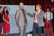 2019, April 01. Hotel Sofitel Legend the Grand, Amsterdam, the Netherlands. Jonathan Demoor and Hans Cornelissen at the press presentation of Kinky Boots.