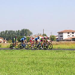 08-08-2020: Wielrennen: Milaan-San Remo: San Remo <br />De kopgroep van de wedstrijd<br />Bais (ANS), Boaro (AST), Mazzucco (BCF), Tonelli (BCF),  Cima (GAZ),  Carretero (MOV),  Frapporti (THR)