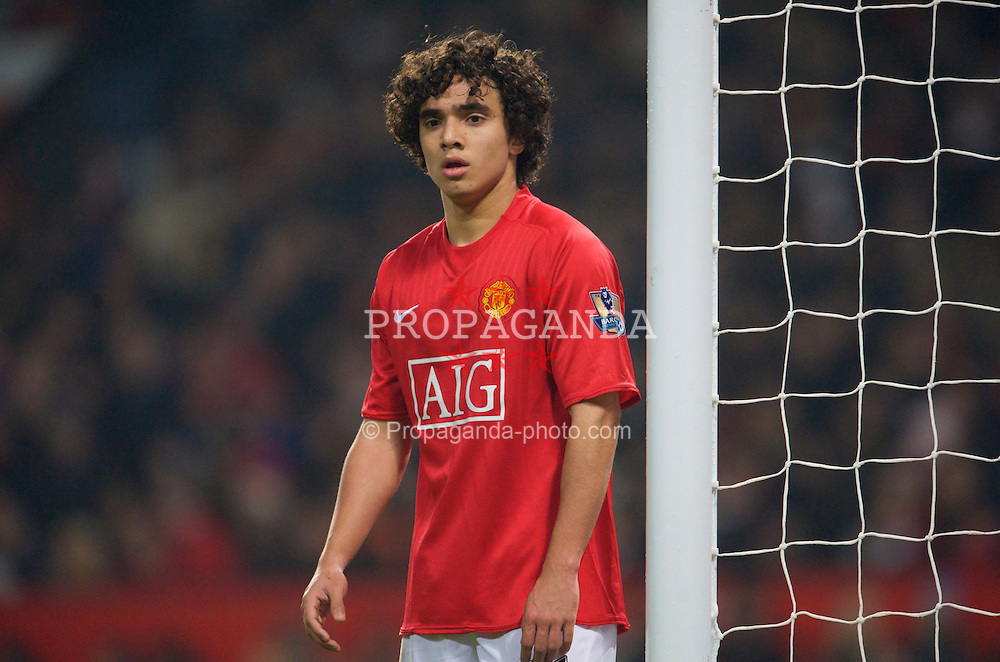 MANCHESTER, ENGLAND - Monday, December 29, 2008: Manchester United's Rafael Da Silva during the Premiership match at Old Trafford. (Photo by David Rawcliffe/Propaganda)