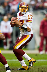 December 13, 2009; Oakland, CA, USA;  Washington Redskins quarterback Jason Campbell (17) during the first quarter against the Oakland Raiders at Oakland-Alameda County Coliseum.  Washington defeated Oakland 34-13.