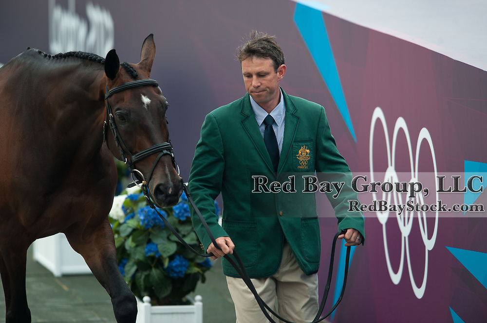 Sam Griffiths (AUS) & Happy Times - Eventing First Inspection - London 2012 Olympic Games - Greenwich Park, London, United Kingdom -  27 July 2012