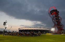 The Olympic Stadium is a background to the opening ceremony  - Photo mandatory by-line: Joe Meredith/JMP - Mobile: 07966 386802 - 11/09/14 - The Invictus Opening Ceremony - London - Queen Elizabeth Olympic Park