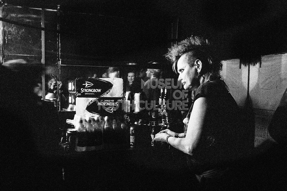 Bartender at Vauxhall's Hidden Club, London, UK, February 2015