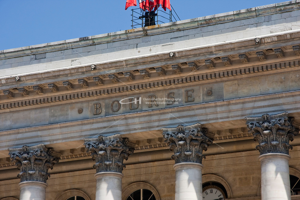 around the Bourse stock exchange in Paris France in May 2008