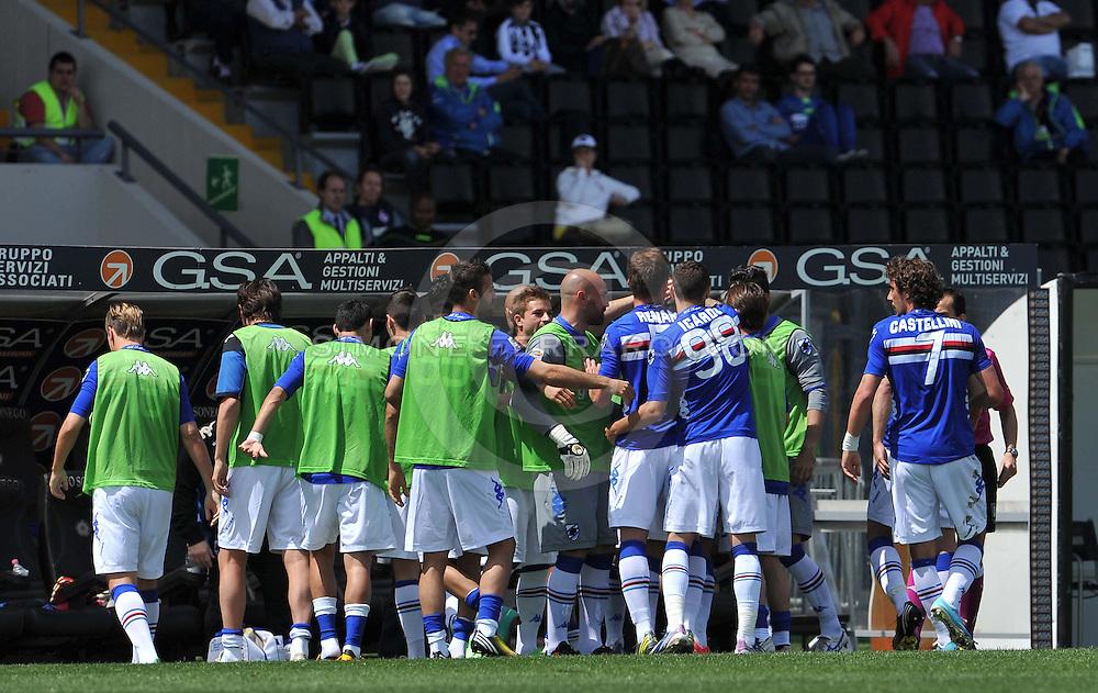 Udine, 05 maggio 2013..Campionato di calcio Serie A 2012/2013.  35^ giornata. Stadio Friuli..Udinese vs Sampdoria..Nella foto: esultanza per il goal di Citadin Martins Eder, 1-1..© foto di Simone Ferraro