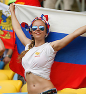 A Russian fan looks on during the 2014 FIFA World Cup match at Maracana Stadium, Rio de Janeiro, Brazil. <br /> Picture by Andrew Tobin/Focus Images Ltd +44 7710 761829<br /> 22/06/2014