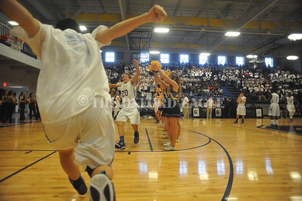 Oxford High's David Dennis (20) is introduced  vs. Houston game in Oxford, Miss. on Thursday, November 20, 2014.