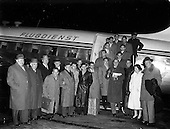 1956 - German National Soccer team arriving at Dublin Airport