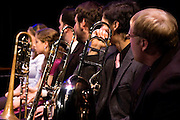 Members of the Lab Band during their performance at Rowan University's 2010 autumn Lab & Jazz Band presentation.
