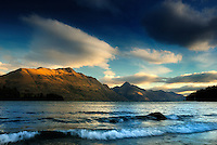 Richard Furhoff 100101_NewZealand_DSC4892.tif .Sunset, Lake Wakatipu, Queenstown, New Zealand. ..