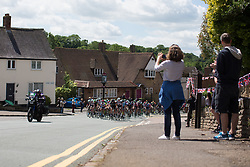 The peloton reaches Rockingham during Stage 1 of the OVO Energy Women's Tour - a 147.5 km road race, between Daventry and Kettering on June 7, 2017, in Northamptonshire, United Kingdom. (Photo by Balint Hamvas/Velofocus.com)