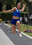 Jessamyn Sauceda aka Jessamyn Maribel Sauceda de la Trinidad (MEX) competes in the women's long jump during the Jim Bush Southern California USATF Championships, Saturday, June 29, 2019, in Long Beach,  Calif.  (Ken McLin/Image of Sport)
