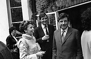 Mr and Mrs Jonathan Aitken and Hon Robert Corbett 1985 ONE TIME USE ONLY - DO NOT ARCHIVE  © Copyright Photograph by Dafydd Jones 66 Stockwell Park Rd. London SW9 0DA Tel 020 7733 0108 www.dafjones.com