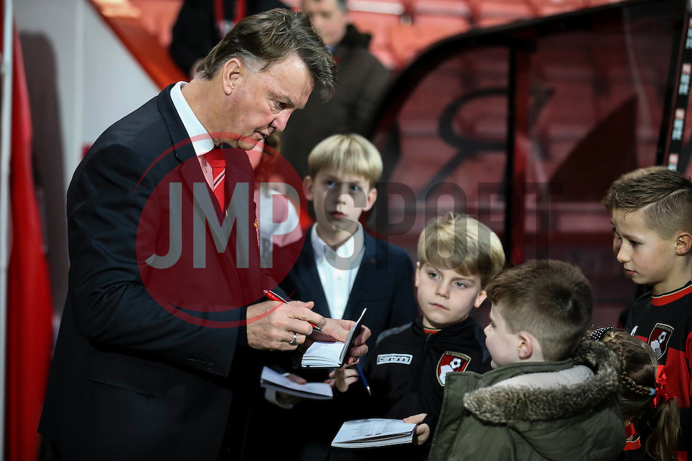 Manchester United Manager Louis van Gaal signed autographs for fans - Mandatory by-line: Jason Brown/JMP - Mobile 07966 386802 12/12/2015 - SPORT - FOOTBALL - Bournemouth, Vitality Stadium - AFC Bournemouth v Manchester United - Barclays Premier League