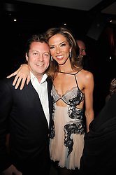 MATTHEW FREUD and HEATHER KERZNER at a dinner to celebrate the work of Malaria No More UK held at Hakkasan Mayfair, 17 Bruton Street, London W1 on 16th November 2010.