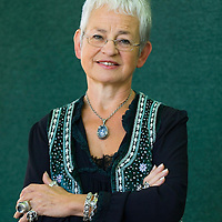 EDINBURGH, SCOTLAND - AUGUST24. Author Jacqueline Wilson poses during a portrait session held at Edinburgh Book Festival on August 24, 2006  in Edinburgh, Scotland. (Photo by Marco Secchi/Getty Images).
