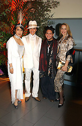 Left to right, ANDY & PATTI WONG, the Son of the Sultan of Brunei PRINCE AZIM OF BRUNEI and JERRY HALL at Andy & Patti Wong's Chinese New Year party to celebrate the year of the Rooster held at the Great Eastern Hotel, Liverpool Street, London on 29th January 2005.  Guests were invited to dress in 1920's Shanghai fashion.<br />