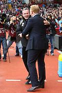 Picture by Paul Chesterton/Focus Images Ltd.  07904 640267.5/11/11.Aston Villa Manager Alex McLeish and Norwich Manager Paul Lambert before the Barclays Premier League match at Villa Park stadium, Birmingham.