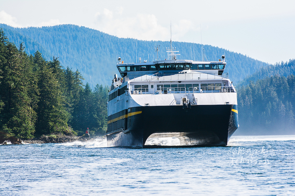 The M/V Fairweather, Alaska Marine Highway ferry, Inside passage, Southeast Alaska, USA