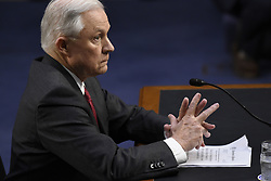 June 13, 2017 - Washington, District of Columbia, UU.S.- Attorney General JEFF SESSIONS testifies at a U.S. Senate Intelligence Committee hearing on Russian interference with U.S. elections. (Credit Image: © Sait Serkan Gurbuz/Depo Photos via ZUMA Wire)