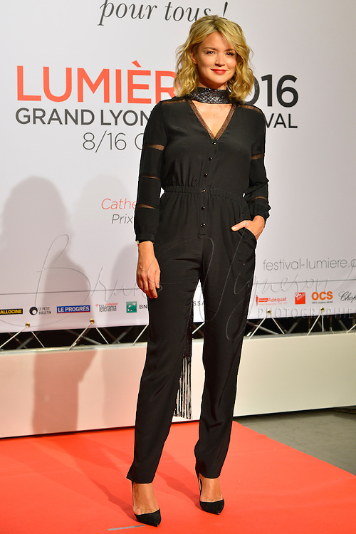 Virginie Efira<br /> Lyon 8 oct 2016 - Festival Lumi&egrave;re 2016 - C&eacute;r&eacute;monie d&rsquo;Ouverture<br /> 8th Film Festival Lumiere In Lyon : Opening Ceremony