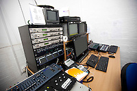 Computer and electric equipment in television studio