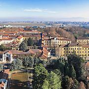 Panoramica aerea della Certosa Reale di Collegno  con i Padiglioni dell'ex ospedale psichiatrico di Collegno,