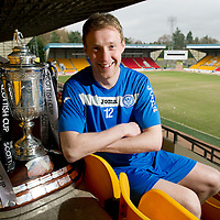 Brechin v St Johnstone Scottish Cup Quarter Final Preview....08.03.11<br /> St Johnstone's Steven Anderson pictured with the Scottish Cup ahead of Saturday's tie at Brechin.<br /> Picture by Graeme Hart.<br /> Copyright Perthshire Picture Agency<br /> Tel: 01738 623350  Mobile: 07990 594431