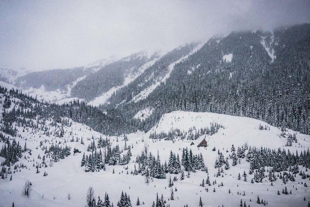 Burnie Glacier Chalet, Howson Range, British Columbia.