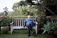 Walter Munk stands at his home in La Jolla, California on Tuesday, July 7, 2015.(Photo by Sandy Huffaker for The New York Times)