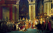 Jacques-Louis David (30 August 1748 – 29 December 1825) was a highly influential French painter in the Neoclassical style The Coronation of Napoleon