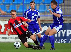 Nace Kosmac (24) of Primorje at 12th Round of PrvaLiga Telekom Slovenije between NK Primorje vs NK Nafta Lendava, on October 5, 2008, in Town stadium in Ajdovscina. Nafta won the match 2:1. (Photo by Vid Ponikvar / Sportal Images)