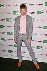 © Licensed to London News Pictures. 17/10/2018. London, UK. Freddie Bentley, contestant of the Channel 4 show The Circle attend the Pink News Awards 2018 held at Church House. Photo credit: Ray Tang/LNP