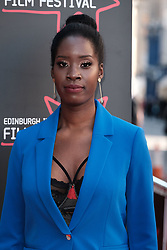Edinburgh International Film Festival 2019<br /> <br /> Boyz In The Wood (European Premiere)<br /> <br /> Stars and guests arrive on the red carpet for the opening gala<br /> <br /> Pictured: Morayo Akande<br /> <br /> Alex Todd | Edinburgh Elite media
