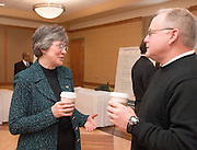 18034Founders Day Celebration  in New Baker Center 2/02/07:Poster Sessions ...Provost Krendl &Terry Conry