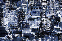Close-up of Seattle Cityscape (monochrome)