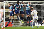 Milton Keynes Dons midfielder Brennan Dickenson (11) scores a goal from open play 1-0 during the EFL Trophy match between Milton Keynes Dons and Wycombe Wanderers at stadium:mk, Milton Keynes, England on 12 November 2019.