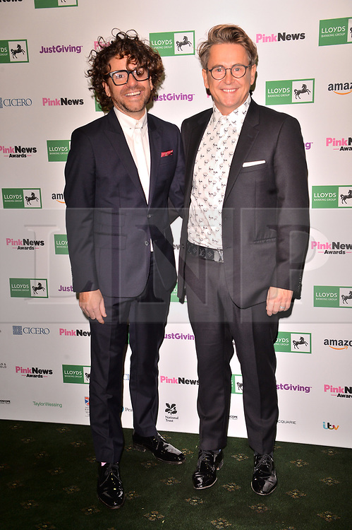 © Licensed to London News Pictures. 17/10/2018. London, UK. Stephen Webb of Googlebox attends the Pink News Awards 2018 held at Church House. Photo credit: Ray Tang/LNP